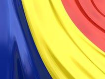 Glossy Flag of Romania Royalty Free Stock Photography