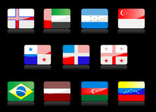 Glossy flags royalty free stock photo