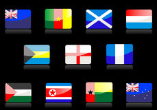 Glossy flags Stock Photography
