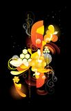 Glossy floral. Illustration over a black background Royalty Free Stock Photography