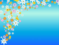 Glossy flower background Stock Photos