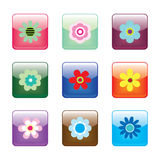 Glossy Flower Buttons Royalty Free Stock Photo