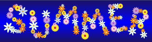 Glossy flowers SUMMER Royalty Free Stock Image
