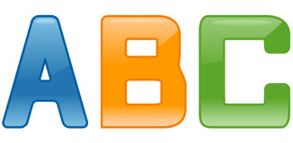 Glossy Fonts Stock Photos