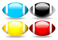 Glossy football set  Stock Photos