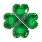 Glossy four-leaf clover Royalty Free Stock Photos