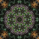 Glossy fractal mandala Royalty Free Stock Photo