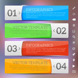 Glossy frames - infographics template Royalty Free Stock Photos