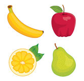 Glossy fruit set. Eps10 vector illustration Royalty Free Stock Photo