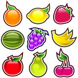 Glossy Fruits Royalty Free Stock Photos