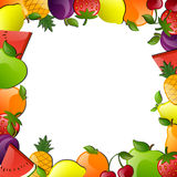 Glossy Fruits Royalty Free Stock Photos