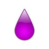 Glossy fuchsia drop royalty free stock photos
