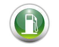 Glossy Fuel Icon Button Stock Photography