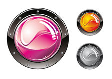 Glossy Futuristic Buttons Royalty Free Stock Photo