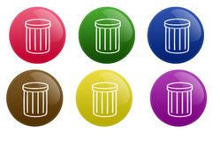 Glossy Garbage Button Royalty Free Stock Photo