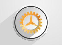 Glossy gear setting icon Stock Photo