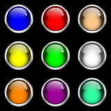 Glossy gel web buttons Stock Images