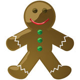 Glossy gingerbread cookie man Stock Photography