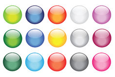 Glossy glass buttons for website icons Stock Photo
