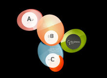 Glossy glass circle banner design template. Speech bubbles Royalty Free Stock Photo