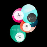 Glossy glass circle banner design template Royalty Free Stock Photos