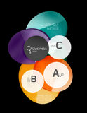 Glossy glass circle banner design template Royalty Free Stock Images