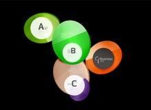 Glossy glass circle banner design template. Speech bubbles Stock Photos