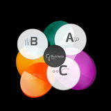 Glossy glass circle banner design template Royalty Free Stock Image