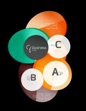 Glossy glass circle banner design template. Speech bubbles Royalty Free Stock Photography
