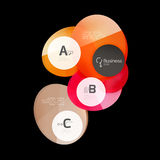 Glossy glass circle banner design template. Speech bubbles Royalty Free Stock Images