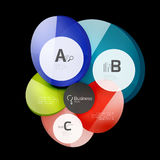 Glossy glass circle banner design template Stock Images