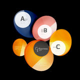 Glossy glass circle banner design template. Speech bubbles Royalty Free Stock Image