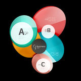 Glossy glass circle banner design template Stock Photography