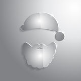 Glossy glass Santa Claus icon. Vector illustration Stock Images