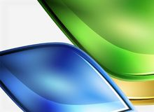 Glossy glass shapes abstract background. Vector Stock Illustration