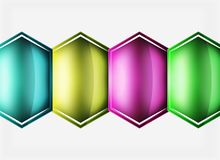 Glossy glass shapes abstract background Stock Photo