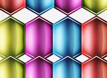 Glossy glass shapes abstract background Stock Photos