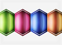 Glossy glass shapes abstract background Royalty Free Stock Photos