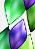 Glossy glass shapes abstract background Royalty Free Stock Photo
