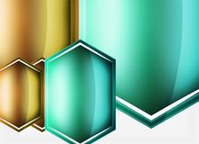 Glossy glass shapes abstract background. Vector Royalty Free Illustration