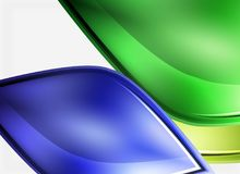 Glossy glass shapes abstract background Royalty Free Stock Images