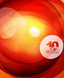 Glossy glass shiny bubble abstract background, wave lines Royalty Free Stock Photos