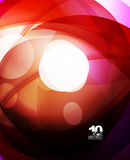 Glossy glass shiny bubble abstract background, wave lines. Vector illustration Royalty Free Stock Images