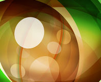 Glossy glass shiny bubble abstract background, wave lines Stock Photos