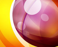 Glossy glass shiny bubble abstract background, wave lines Royalty Free Stock Image
