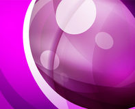 Glossy glass shiny bubble abstract background, wave lines. Vector illustration Stock Photo