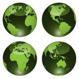 Glossy globes Stock Photo