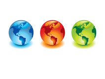 Glossy globes Royalty Free Stock Photo