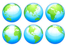 Glossy globes Royalty Free Stock Images