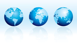Glossy Globes With Reflections